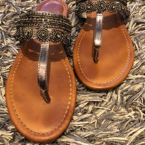 SZ  7 Jessica Simpson Brown ROZLEE Thong Sandals